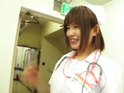 Delicious nurse Koyuru Kanon bonked in a threesome