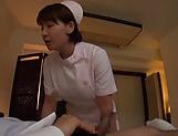 Ravishing amateur nurse gives perfect blowjob
