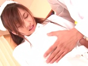 Kinky Tokyo nurse with big tits and nice ass in a crazy sex action