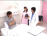 Hot nurse Ai Takeuchi blows the doctor and then fucks hard picture 2