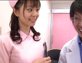 Hot nurse Ai Takeuchi blows the doctor and then fucks hard picture 5