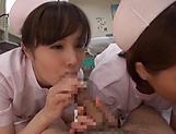Enchanting group sex with three hot nurses picture 14