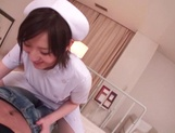 Busty Japanese AV Model is a nurse who loves to fuck in hardcore picture 13