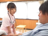 Attractive nurse Nana Ayano fucks horny patient picture 7