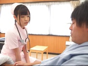 Attractive nurse Nana Ayano fucks horny patient