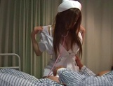 Busty nurse Hikari Kirishima enjoys deep fingering and hardcore bang