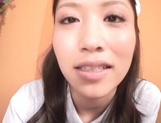 Beautiful Asian nurse throats a big dick in POV picture 13