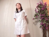 Beautiful Asian nurse throats a big dick in POV picture 2