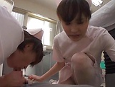 Alluring Asian nurses give delightful handjob picture 12