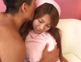 Hot Japanese nurse fucked and made to swallow picture 6