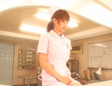 Hot Japanese nurse spreads her legs for a hungry cock picture 14