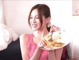 Petite Japanese nurse Ameri Ichinose enjoys oral stimulation picture 13