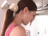 Petite Japanese nurse Ameri Ichinose enjoys oral stimulation picture 15