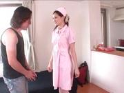 Petite Japanese nurse Ameri Ichinose enjoys oral stimulation