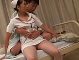Kinky Asian nurse loves sucking hot wood picture 6