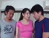 Stunning Asian babe Kayama Mio gets a messy cunt picture 14