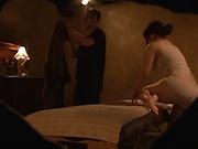 Big ass Japanese babe gets a hardcore massage fuck