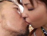 Maki Hoshino receives a big dick in her hairy twat picture 13