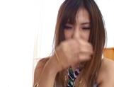 Maki Hoshino receives a big dick in her hairy twat