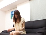 Creampie to end Japanese AV model's naughty threesome show picture 4