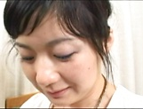Horny mature Japanese AV Model gets her hairy cunt banged hard