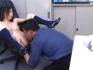 Petite Japanese schoolgirl Iku Natsumi fucked by her male teacher
