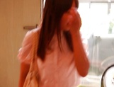 Naughty teen Hitomi Maisaka enjoys head fuck and pussy banging picture 6