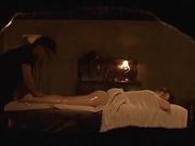 Beautiful milf rides her masseur passionately
