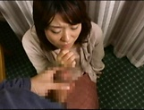 Amateur Japanese AV Model sucks dick and gets her cunt creamed picture 11