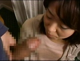 Amateur Japanese AV Model sucks dick and gets her cunt creamed picture 13