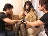 Married woman goes nasty on two young males picture 12