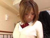 Creampie to please naughty schoolgirl  Aoi Kawamura picture 10
