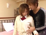 Creampie to please naughty schoolgirl  Aoi Kawamura picture 9