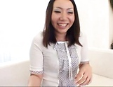 Hot Japanese AV model pleases two males with her tight holes