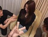 Amazing Japanese beauty hard fucked and jizzed on pussy picture 15