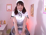 Kamiki Sayaka  gets a messy cum on ass. picture 3