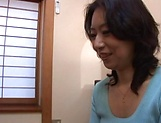 Horny mature Japanese AV Model gets banged in the office picture 10