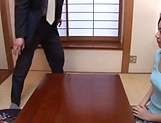 Horny mature Japanese AV Model gets banged in the office picture 11
