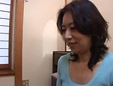 Horny mature Japanese AV Model gets banged in the office picture 2