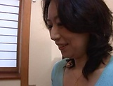 Horny mature Japanese AV Model gets banged in the office picture 4