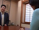 Horny mature Japanese AV Model gets banged in the office picture 5