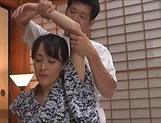 Hibiki Ririko, arousing mature Asian gets massage and a banging picture 12