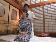 Hibiki Ririko, arousing mature Asian gets massage and a banging