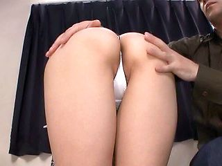 Teen with glasses hard fucked on cam and made to swallow