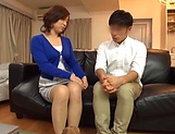 Japanese wife enjoys riding a stiff rod picture 6