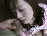 Hot Japanese AV Model is a MILF getting fucked hard and creamed picture 13