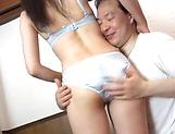 Mature Japanese AV Model  gets her hairy pussy creamed picture 12
