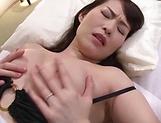 Lingerie clad Japanese AV model gets rough pussy pounding