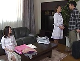 Two horny mature slammed in group action
