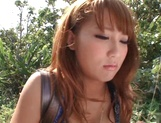 Nice JP babe in short skirt, Mao Kurata gets banged on the beach picture 2